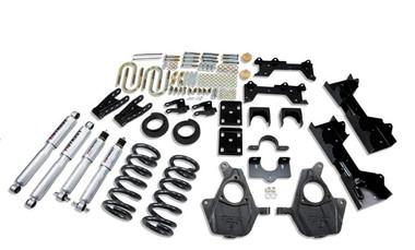 "1999-2000 Chevy Silverado 1500 2WD (Ext Cab) 5/7"" Lowering Kit w/ Street Performance Shocks - Belltech 681SP"