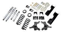 "1992-1998 Chevy C1500 2WD (Std Cab) 4/6"" Lowering Kit w/ Street Performance Shocks - Belltech 688SP"