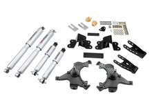 "1988-1998 Chevy C1500 2WD (Ext Cab) 2/4"" Lowering Kit w/ Street Performance Shocks - Belltech 690SP"