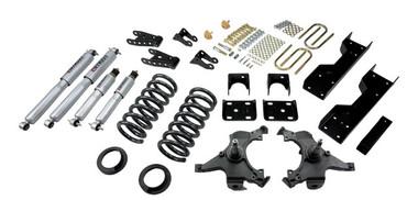 "1988-1998 GMC Sierra C1500 2WD (Ext Cab) 5/7"" Lowering Kit w/ Street Performance Shocks - Belltech 694SP"
