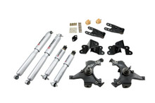 "1988-1991 Chevy C1500 2WD (Std Cab) 2/4"" Lowering Kit w/ Street Performance Shocks - Belltech 695SP"