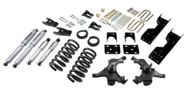 "1988-1991 Chevy C1500 2WD (Std Cab) 5/7"" Lowering Kit w/ Street Performance Shocks - Belltech 697SP"