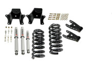 "1973-1987 Chevy C10 2WD (w/ 1"" Rotors) 2/4"" Lowering Kit  w/ Street Performance Shocks - Belltech 703SP"