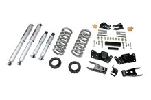"1997-2000 Chevy C2500 / C3500 2WD 2/4"" Lowering Kit w/ Street Performance Shocks - Belltech 715SP"
