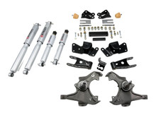 "1997-2000 Chevy C2500 / C3500 2WD 3/4"" Lowering Kit w/ Street Performance Shocks - Belltech 716SP"