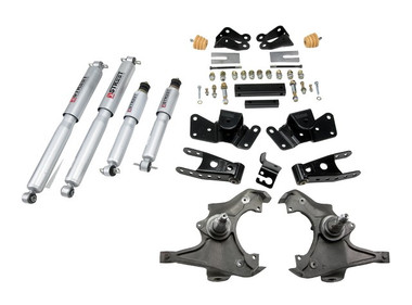 "1997-2000 GMC C2500 / C3500 2WD 3/4"" Lowering Kit w/ Street Performance Shocks - Belltech 716SP"