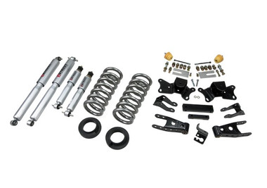 """1997-2000 Chevy C2500 2WD (Extended / Crew Cab) 2/4"""" Lowering Kit w/ Street Performance Shocks - Belltech 718SP"""