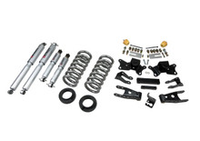"1997-2000 GMC C2500 2WD (Extended / Crew Cab) 2/4"" Lowering Kit w/ Street Performance Shocks - Belltech 718SP"