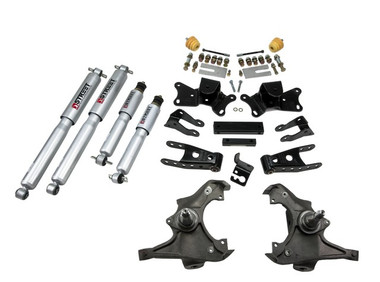 "1997-2000 Chevy C2500 2WD (Extended / Crew Cab) 3/4"" Lowering Kit w/ Street Performance Shocks - Belltech 719SP"