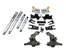"1997-2000 GMC C2500 2WD (Extended / Crew Cab) 3/4"" Lowering Kit w/ Street Performance Shocks - Belltech 719SP"
