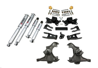 """1990-1996 Chevy C2500 2WD (Extended Cab) 3/4"""" Lowering Kit w/ Street Performance Shocks - Belltech 721SP"""