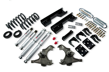 "1990-1996 Chevy C2500 2WD (Extended Cab) 5/8"" Lowering Kit w/ Street Performance Shocks - Belltech 722SP"