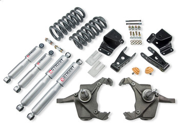 "1975-1991 GMC C30 Crew Cab Dually 4/4"" Lowering Kit w/ Street Performance Shocks - Belltech 967SP"