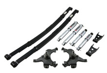 "1995-1999 Chevy Suburban C1500 (2WD) 2/4"" Lowering Kit w/ Street Performance Shocks - Belltech 782SP"