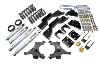 "1995-1999 GMC Yukon (2 Door) 4/5.5"" Lowering Kit w/ Street Performance Shocks - Belltech 794SP"