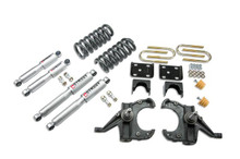 "1973-1987 Chevy Blazer 2wd (w/ 1"" Rotors) 4/6"" Lowering Kit w/ Street Performance Shocks - Belltech 956SP"