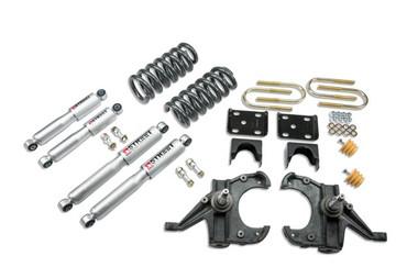 """1973-1987 Chevy Blazer 2wd (w/ 1"""" Rotors) 4/6"""" Lowering Kit w/ Street Performance Shocks - Belltech 956SP"""