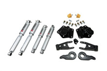 "1995-1999 GMC SUV 4WD (4-Door) 2/3"" Lowering Kit w/ Street Performance Shocks - Belltech 763SP"