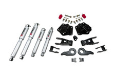 "1995-1999 Chevy Tahoe 4WD (4-Door) 2/4"" Lowering Kit w/ Street Performance Shocks - Belltech 764SP"