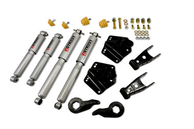 "1992-1999 GMC Suburban K1500 4WD 2/4"" Lowering Kit w/ Street Performance Shock - Belltech 765SP"