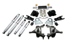 "1994-1999 Dodge Ram 1500 Extended Cab 2/4"" Lowering Kit w/ Street Performance Shocks - Belltech 818SP"