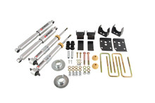"2015-2019 Ford F150 2wd +1"" to -3"" F / 5.5"" R Lowering Kit w/ Street Performance Shocks - Belltech 1000SP"