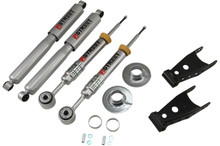 "2009-2013 Ford F150 Standard Cab 2wd +1 to -3"" F / 2"" R Lowering Kit w/ Street Performance Shocks - Belltech 970SP"