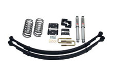 "2004-2015 Nissan Titan 2"" F / 4"" R Lowering Kit w/ Street Performance Shocks - Belltech 437SP"