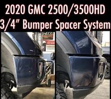 "2020-2021 Chevy & GMC 2500/3500HD 3/4"" Premium Front Bumper Spacer Kit - 990300"