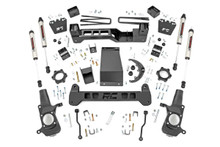 "2001-2010 Chevy & GMC 2500HD 2wd/4wd 6"" Lift Kit W/ V2 Shocks - Rough Country 29770"