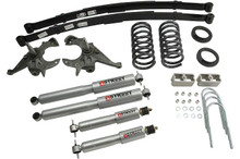 """1982-1993 Chevy S10 2WD (Ext Cab) 4/5"""" Lowering Kit w/ Street Performance Shocks - Belltech 619SP"""