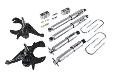 "1983-1994 Chevy Blazer 2WD 2/3"" Lowering Kit w/ Street Performance Shocks - Belltech 614SP"