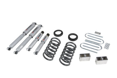 """1983-1994 Chevy Blazer (4 Cyl) 2WD 3/3"""" Lowering Kit w/ Street Performance Shocks - Belltech 630SP"""