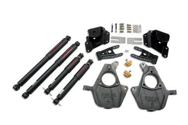 "2005-2006 GMC Sierra 1500 2WD (Ext Cab) 2/4"" Lowering Kit w/ Nitro Drop 2 Shocks - Belltech 653ND"