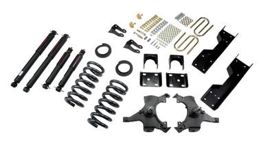 "1992-1998 Chevy C1500 2WD (Std Cab) 4/6"" Lowering Kit w/ Nitro Drop 2 Shocks - Belltech 688ND"