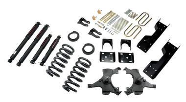 "1992-1998 GMC Sierra C1500 2WD (Std Cab) 4/6"" Lowering Kit w/ Nitro Drop 2 Shocks - Belltech 688ND"