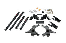 "1988-1998 Chevy C1500 2WD (Ext Cab) 2/4"" Lowering Kit w/ Nitro Drop 2 Shocks - Belltech 690ND"