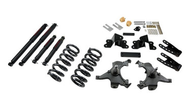 "1988-1998 Chevy C1500 2WD (Ext Cab) 3/4"" Lowering Kit w/ Nitro Drop 2 Shocks - Belltech 692ND"