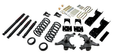 "1988-1998 Chevy C1500 2WD (Ext Cab) 5/6"" Lowering Kit w/ Nitro Drop 2 Shocks - Belltech 693ND"