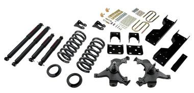 "1988-1998 GMC Sierra C1500 2WD (Ext Cab) 5/6"" Lowering Kit w/ Nitro Drop 2 Shocks - Belltech 693ND"