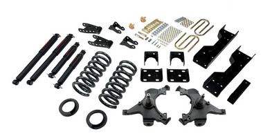 "1988-1998 GMC Sierra C1500 2WD (Ext Cab) 5/7"" Lowering Kit w/ Nitro Drop 2 Shocks - Belltech 694ND"