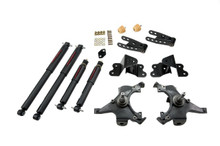 "1988-1991 Chevy C1500 2WD (Std Cab) 2/4"" Lowering Kit w/ Nitro Drop 2 Shocks - Belltech 695ND"