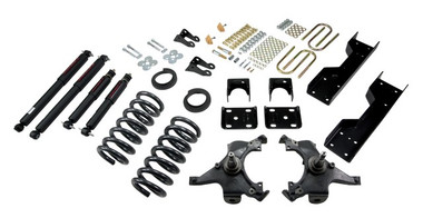 "1988-1991 Chevy C1500 2WD (Std Cab) 4/6"" Lowering Kit w/ Nitro Drop 2 Shocks - Belltech 696ND"