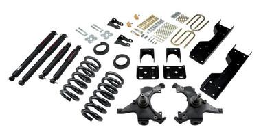 "1988-1991 GMC C1500 2WD (Std Cab) 4/6"" Lowering Kit w/ Nitro Drop 2 Shocks - Belltech 696ND"