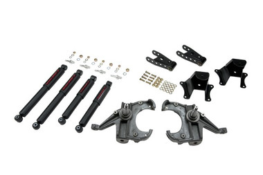 "1973-1987 Chevy C10 2WD (w/ 1"" Rotors) 3/4"" Lowering Kit w/ Nitro Drop 2 Shocks - Belltech 704ND"