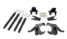 "1973-1987 Chevy C10 2WD (w/ 1-1/4"" Rotors) 4/6"" Lowering Kit w/ Nitro Drop 2 Shocks - Belltech 707ND"