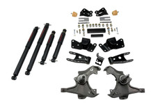 "1997-2000 Chevy C2500 / C3500 2WD 3/4"" Lowering Kit w/ Nitro Drop 2 Shocks - Belltech 716ND"
