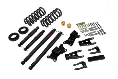"1990-1996 Chevy C2500/3500 & Dually 2WD (All Cabs) 2/4"" Lowering Kit w/ Nitro Drop 2 Shocks - Belltech 720ND"
