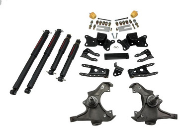 "1990-1996 Chevy C2500/3500 & Dually 2WD (All Cabs) 3/4"" Lowering Kit w/ Nitro Drop 2 Shocks - Belltech 721ND"