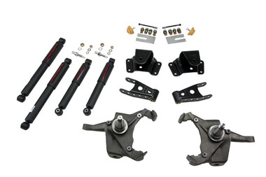 "1975-1991 Chevy C30 Crew Cab Dually 3/4"" Lowering Kit w/ Nitro Drop 2 Shocks - Belltech 728ND"
